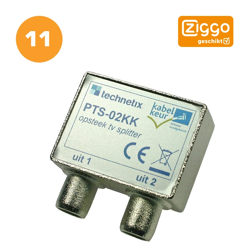 Tweeweg splitter Technetix PTS-02 - MediaZoo