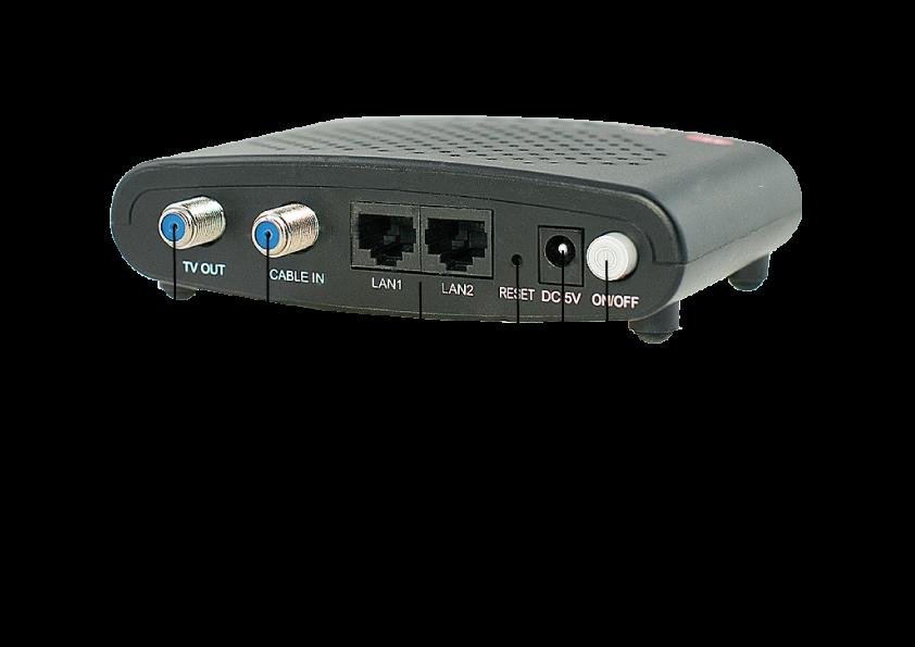 Luster MoCA 2.0 adapter - Dualgig - 2x GBit Ethernet over coax - met tekst